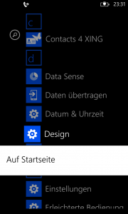 Windows Phone 8 GDR3 Preview - Einstellungen in der App-Liste