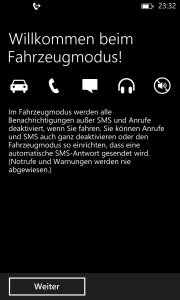Windows Phone 8 GDR3 Preview - Fahrzeugmodus